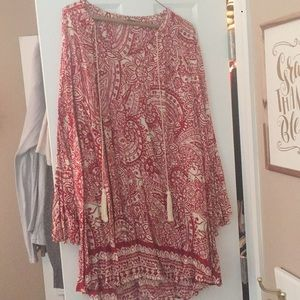UMGEE bell sleeved dress with tassels